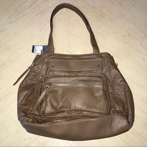 NWT Mossimo Women's Brown East West Tote Bag